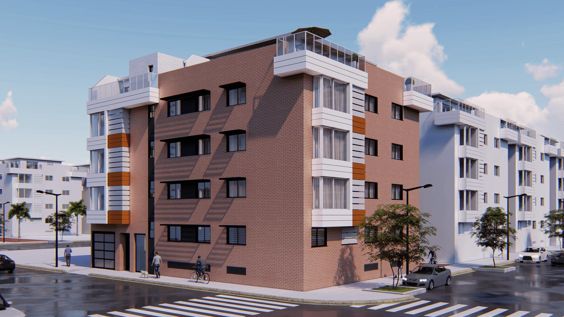 Detalle: obra nueva Edificio PLAZA