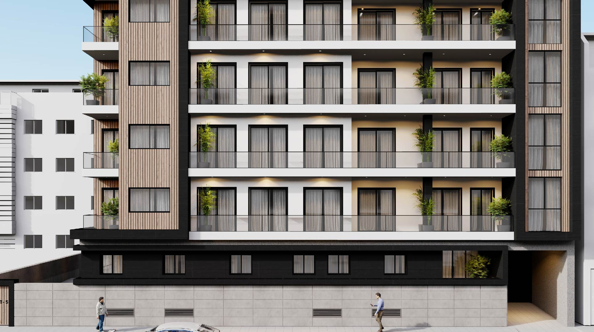 Detalle: obra nueva Edificio LT-5