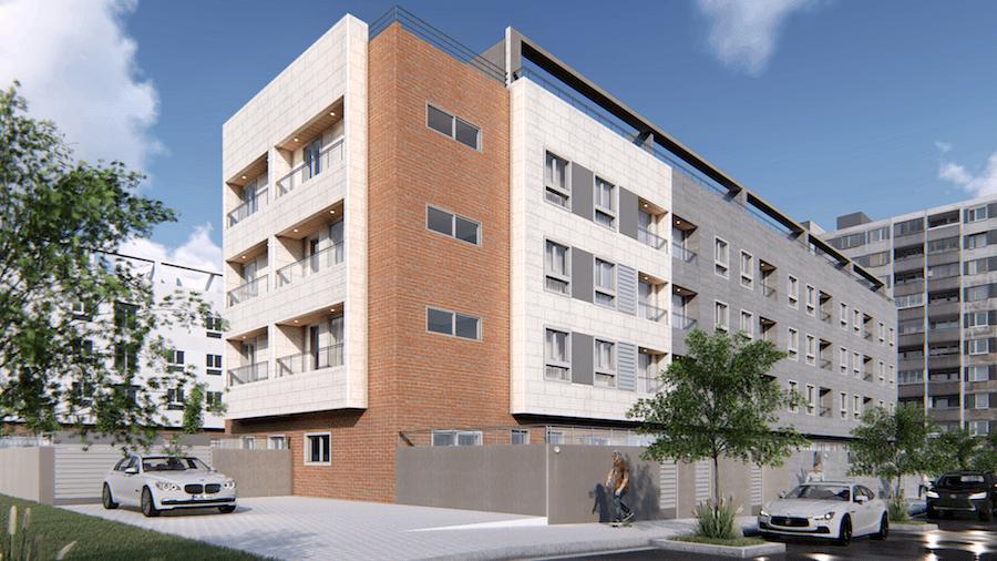 Detalle: obra nueva Edificio ENRIC VALOR 8